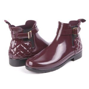 Hunter Refined Slim Fit Quilted Gloss Chelsea Boot